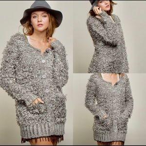 POL Soft Flurry Cardigan Sweater